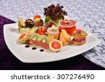 antipasto and catering platter... | Shutterstock . vector #307276490