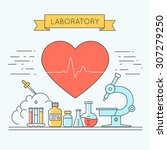 medicine background with the... | Shutterstock .eps vector #307279250