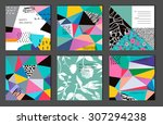 set of 6 creative universal... | Shutterstock .eps vector #307294238