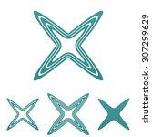 teal line reject logo design set