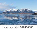 Jokulsarlon Ice Lake With Snow...