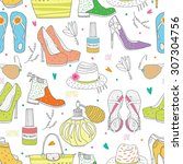 pattern  clothes  color  female ...   Shutterstock .eps vector #307304756