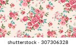 seamless classic floral pattern ... | Shutterstock .eps vector #307306328