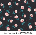 seamless classic ditsy floral... | Shutterstock .eps vector #307306334
