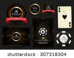 casino card design vintage...