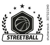 streetball and basketball icon... | Shutterstock .eps vector #307321340