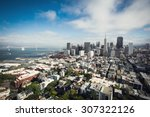 beautiful view of san francisco ... | Shutterstock . vector #307322126