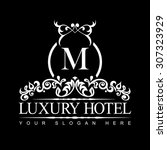 luxury logo template in vector... | Shutterstock .eps vector #307323929