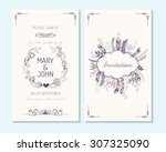 wedding invitation  thank you... | Shutterstock .eps vector #307325090