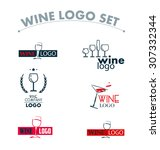 set of wine logo. wine... | Shutterstock . vector #307332344