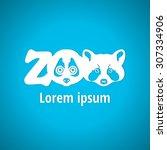 light logo for the zoo.... | Shutterstock .eps vector #307334906