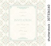 retro invitation or wedding... | Shutterstock .eps vector #307336160