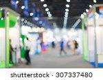 blur of people in exhibition... | Shutterstock . vector #307337480