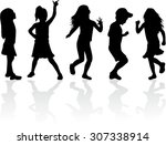 family silhouettes | Shutterstock .eps vector #307338914