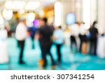 abstract blurred people in... | Shutterstock . vector #307341254