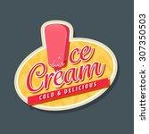 ice cream logo with ice cream...   Shutterstock .eps vector #307350503