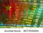 Concept Of China Stock Market...