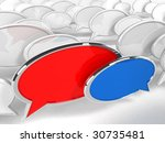 Speech Bubbles - 3d render - stock photo