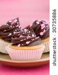 Trio Of Pink Chocolate Cupcakes ...
