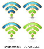 wifi icons set for tablet pc ui ...