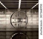 bank vault door. high... | Shutterstock . vector #307368950