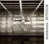 bank vault door. business... | Shutterstock . vector #307370138