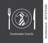 logo  icon business lunch.... | Shutterstock .eps vector #307370183
