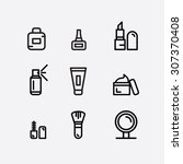 cosmetic icon set | Shutterstock .eps vector #307370408