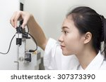 engineer setup testing machine | Shutterstock . vector #307373390