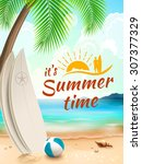 summer time background  ... | Shutterstock . vector #307377329