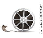 illustration of camera reel ... | Shutterstock .eps vector #307383920