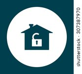 house  access is open  unlocked....   Shutterstock .eps vector #307387970