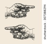 pointing hand drawing | Shutterstock .eps vector #307388294