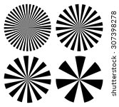 Sun Ray Pattern  Vector Radial...