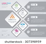 vector infographic design white ... | Shutterstock .eps vector #307398959