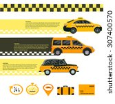 taxi car.illustration for... | Shutterstock .eps vector #307400570