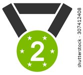 second medal icon. vector style ...   Shutterstock .eps vector #307412408
