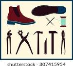 vector shoe repair illustration....