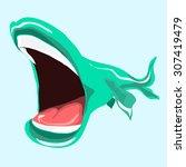 Illustration Of A Green Fish....