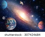 astrology astronomy earth moon... | Shutterstock . vector #307424684