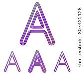 purple color line letter a logo ...