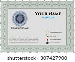 business card  retro style.... | Shutterstock .eps vector #307427900