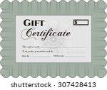 retro gift certificate.... | Shutterstock .eps vector #307428413