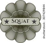 squat rosette | Shutterstock .eps vector #307429844