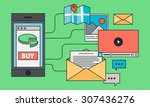 mobile marketing design with... | Shutterstock .eps vector #307436276