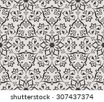 vintage abstract floral... | Shutterstock .eps vector #307437374