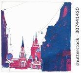 moscow kremlin | Shutterstock . vector #307441430