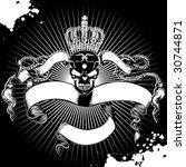 crown skull sign | Shutterstock .eps vector #30744871
