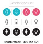 gender icons set. lady and... | Shutterstock .eps vector #307455464