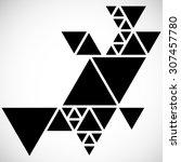 modern geometrical triangle... | Shutterstock .eps vector #307457780